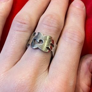 925 Silver abstract ring
